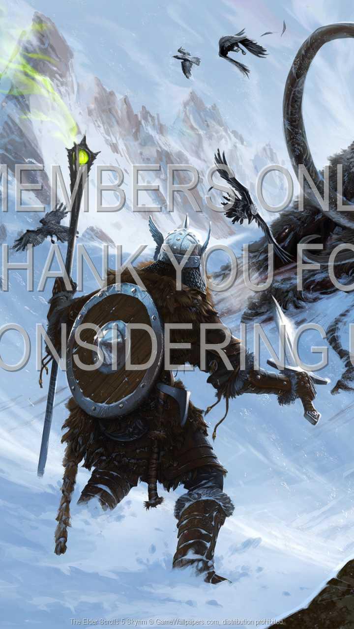 The Elder Scrolls 5: Skyrim 720p Vertical Handy Hintergrundbild 02