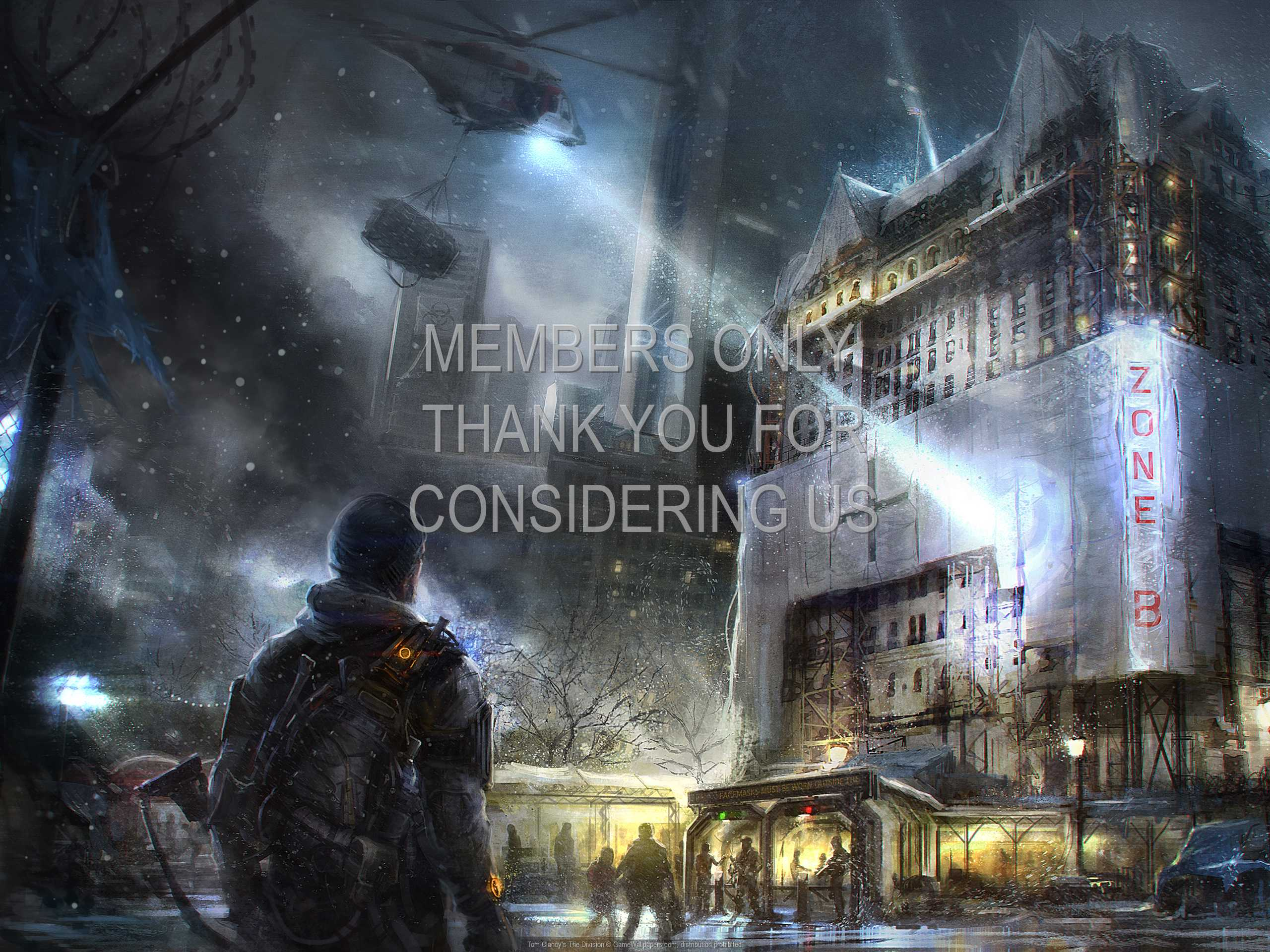 Tom Clancy's The Division 1080p Horizontal Handy Hintergrundbild 01