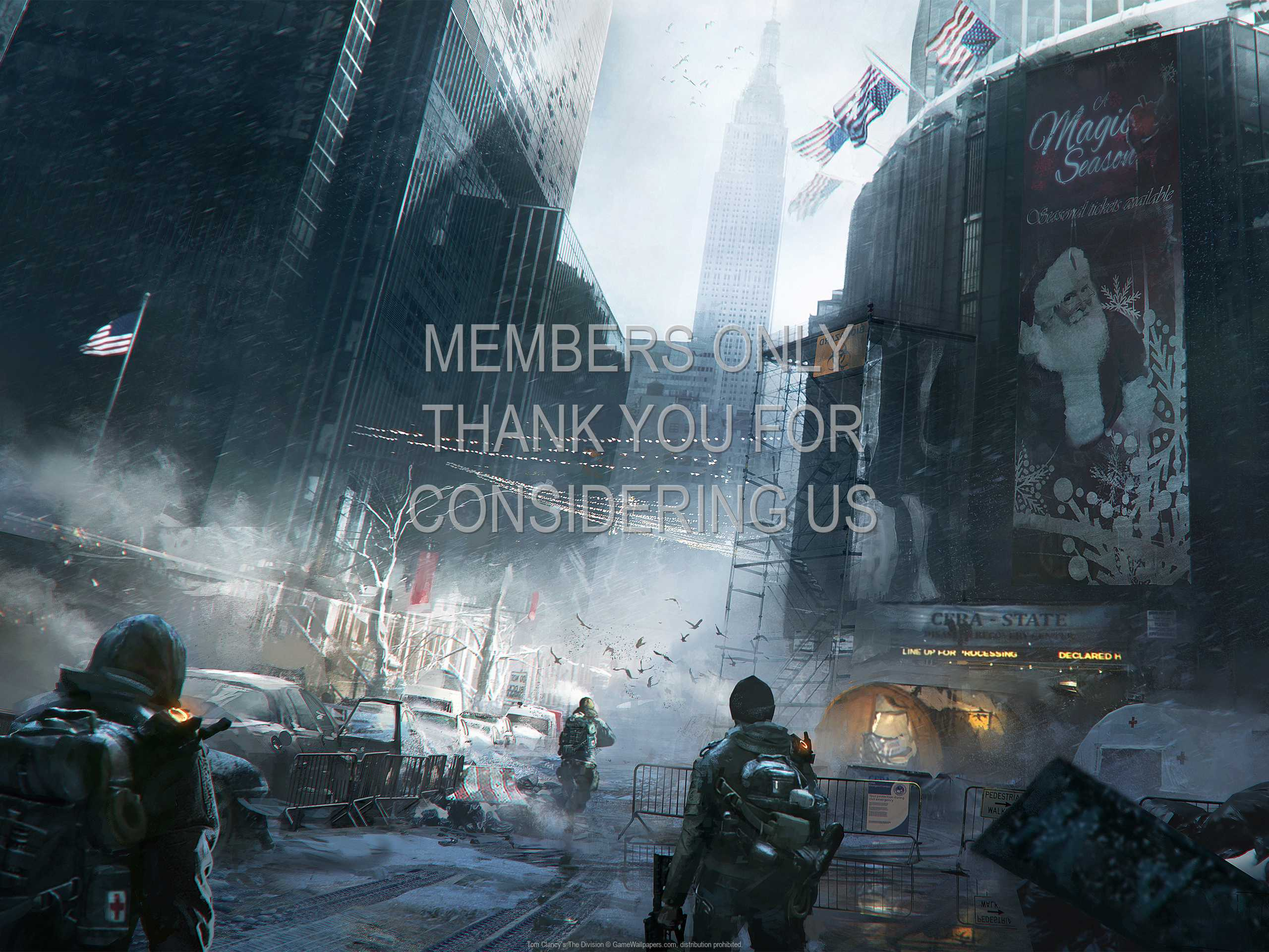 Tom Clancy's The Division 1080p Horizontal Mobiele achtergrond 03