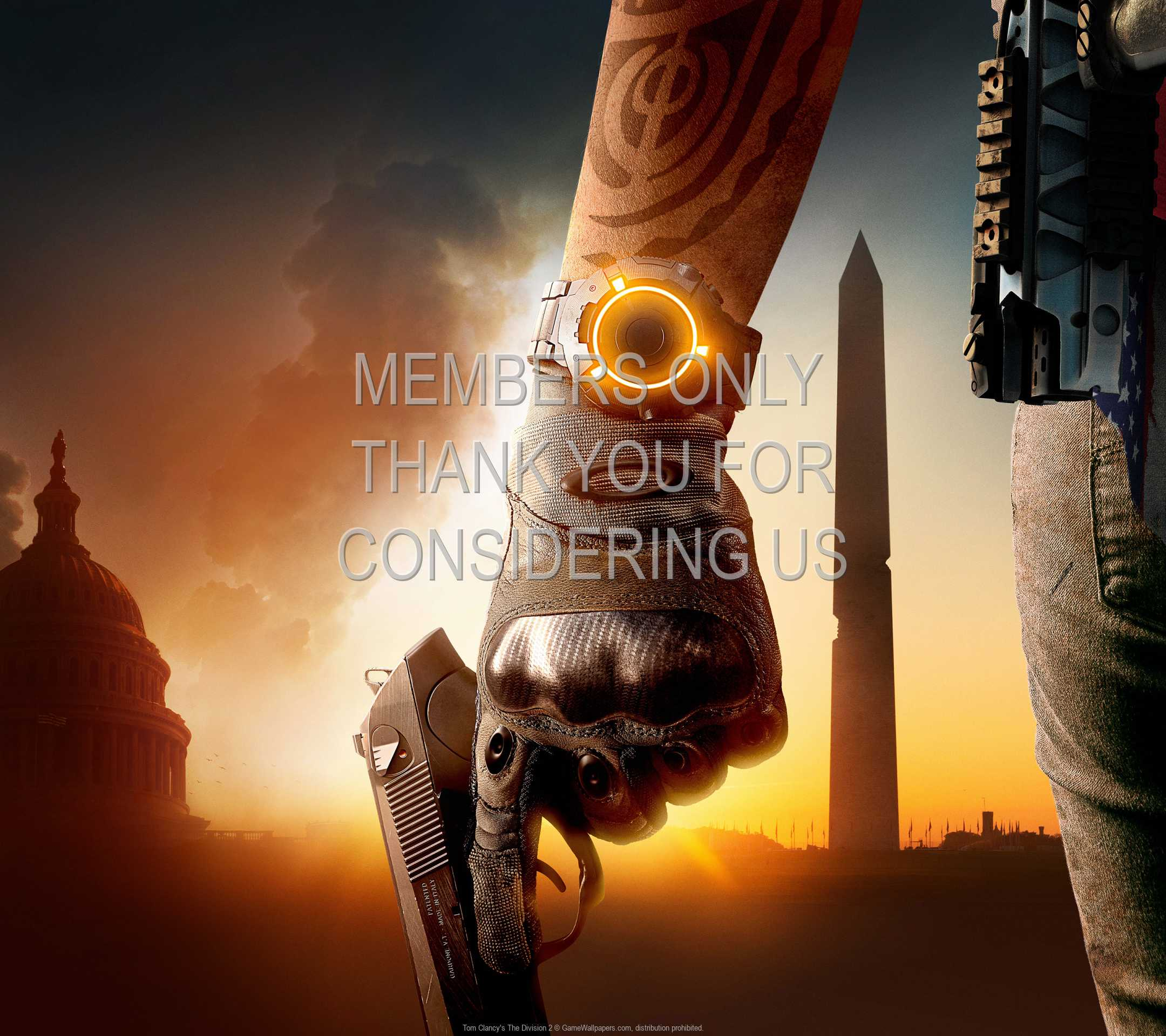 Tom Clancy's The Division 2 1080p Horizontal Mobiele achtergrond 06