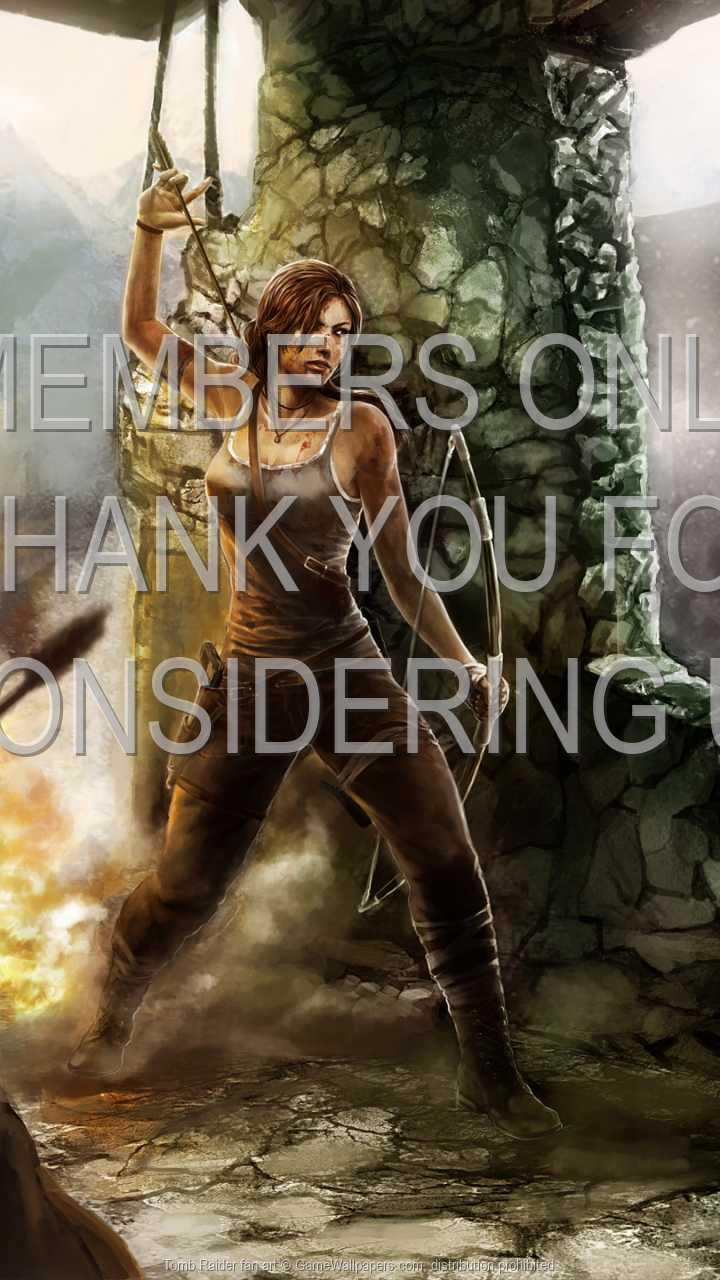 Tomb Raider fan art 720p Vertical Handy Hintergrundbild 02