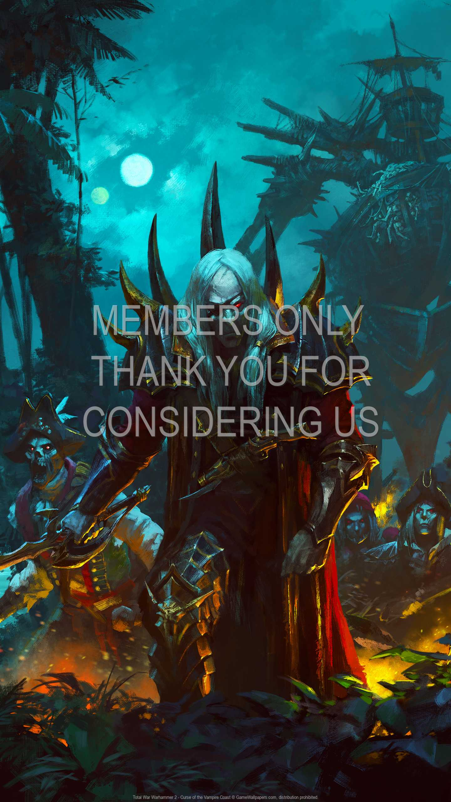Total War: Warhammer 2 - Curse of the Vampire Coast 1440p Vertical Mobiele achtergrond 01