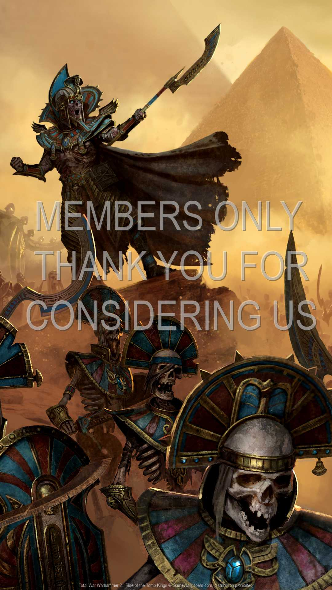 Total War: Warhammer 2 - Rise of the Tomb Kings 1080p Vertical Handy Hintergrundbild 01