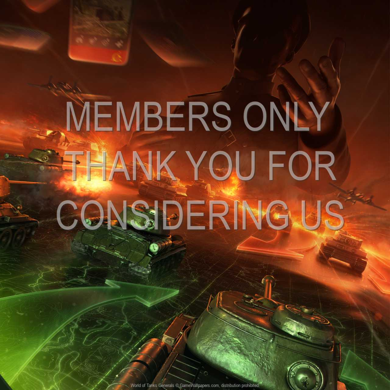 World of Tanks: Generals 720p Horizontal Handy Hintergrundbild 01