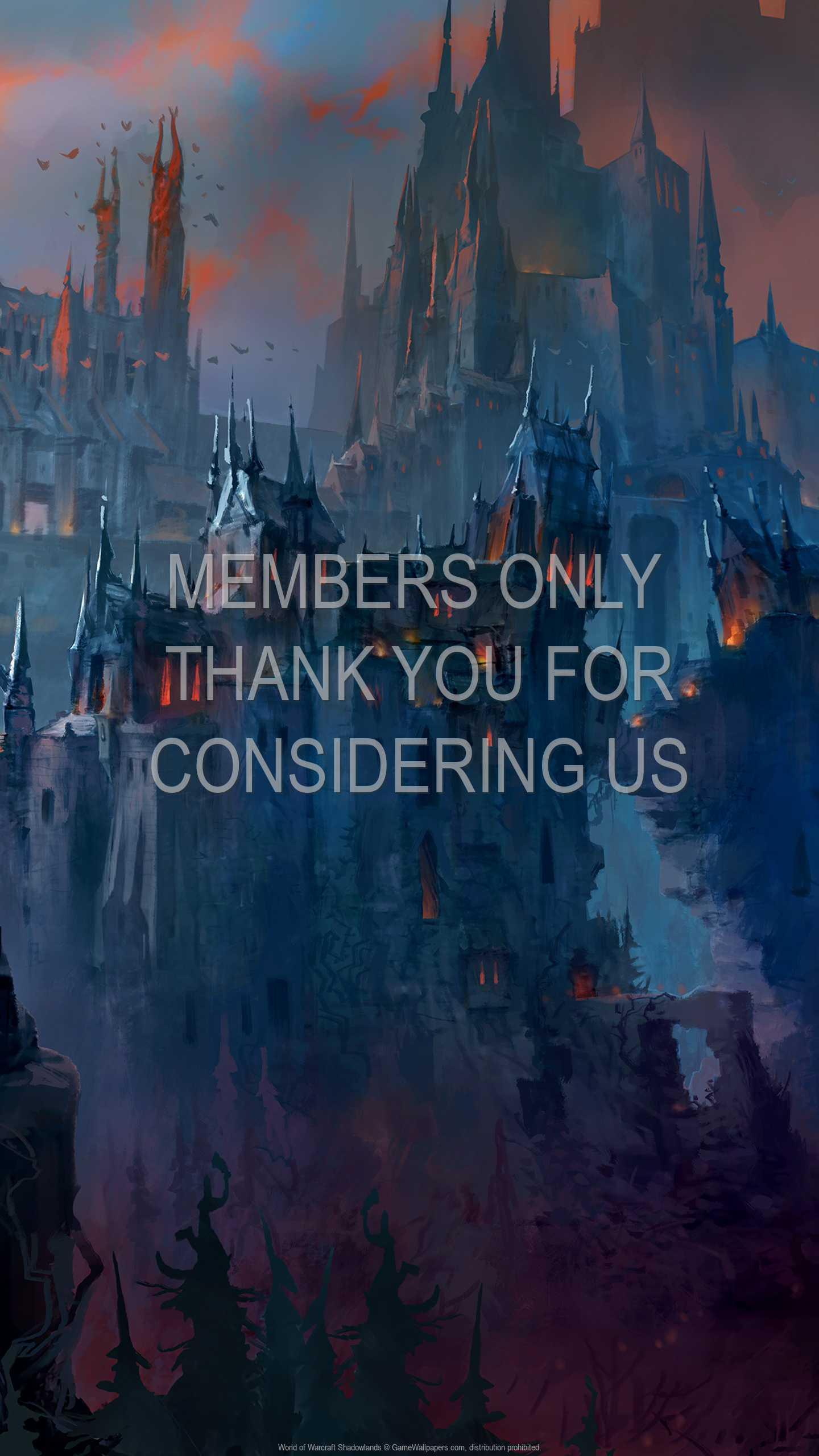 World of Warcraft: Shadowlands 1440p Vertical Handy Hintergrundbild 04