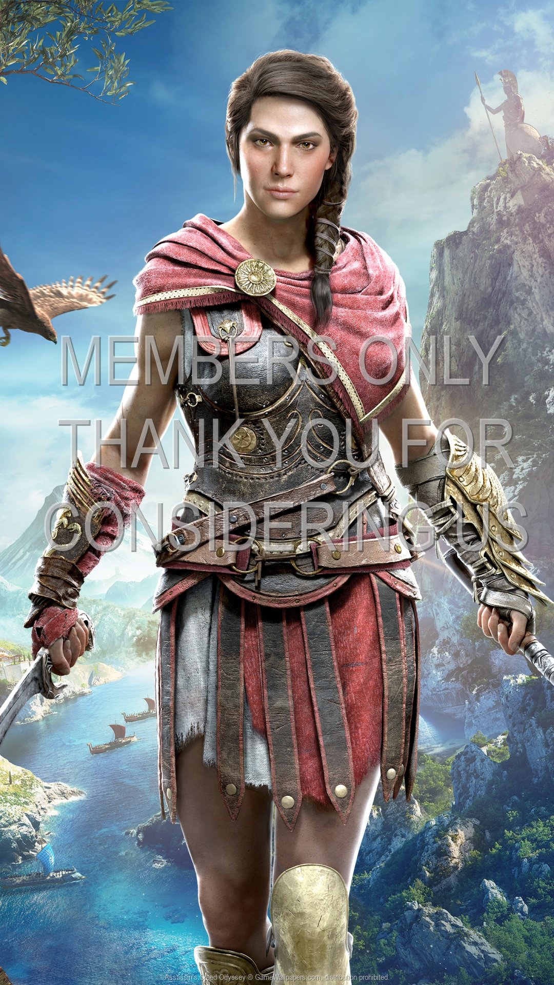 Assassin's Creed: Odyssey 1920x1080 Mobiele achtergrond 04