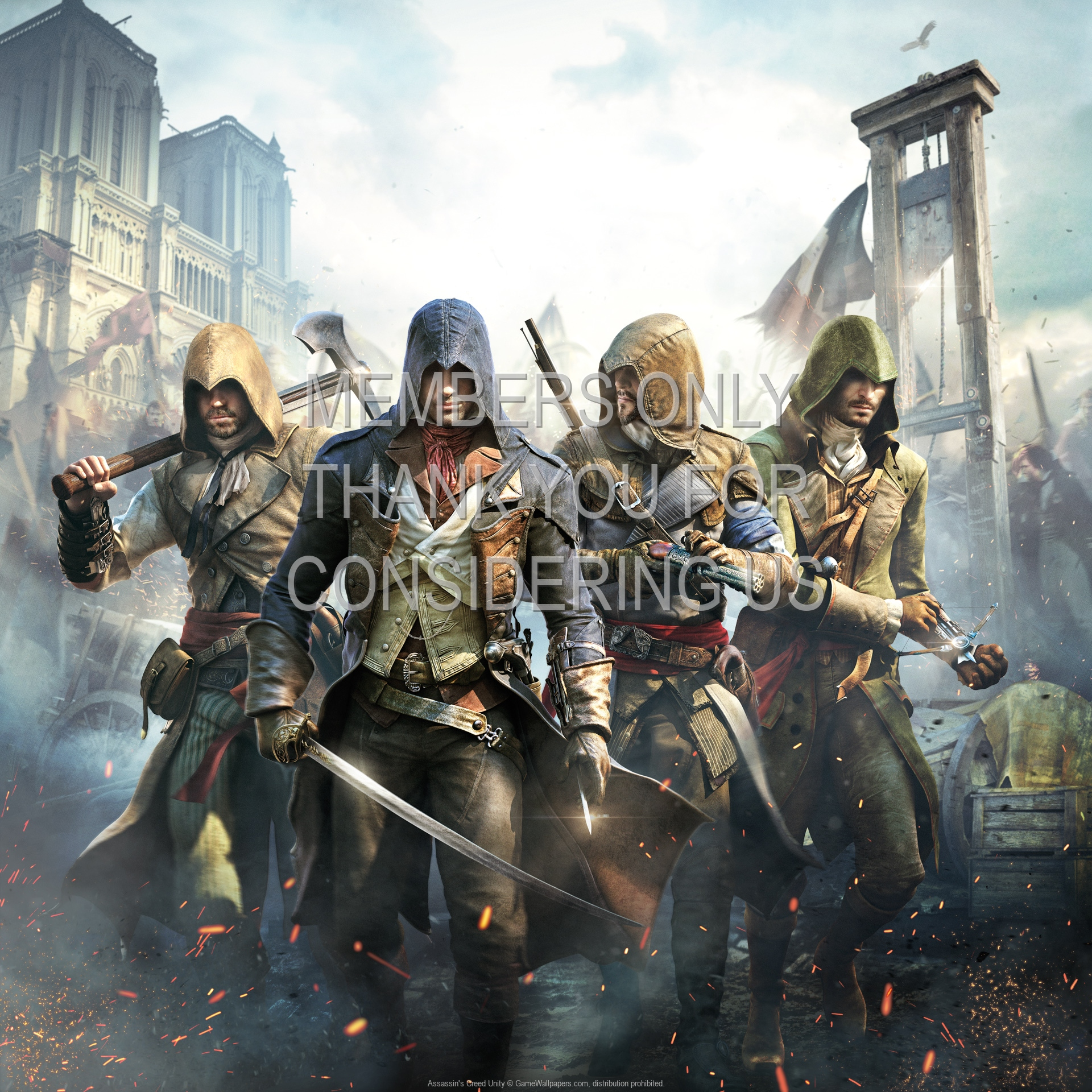 Assassins Creed Unity 1920x1080 Mobile Wallpaper Or Background 02