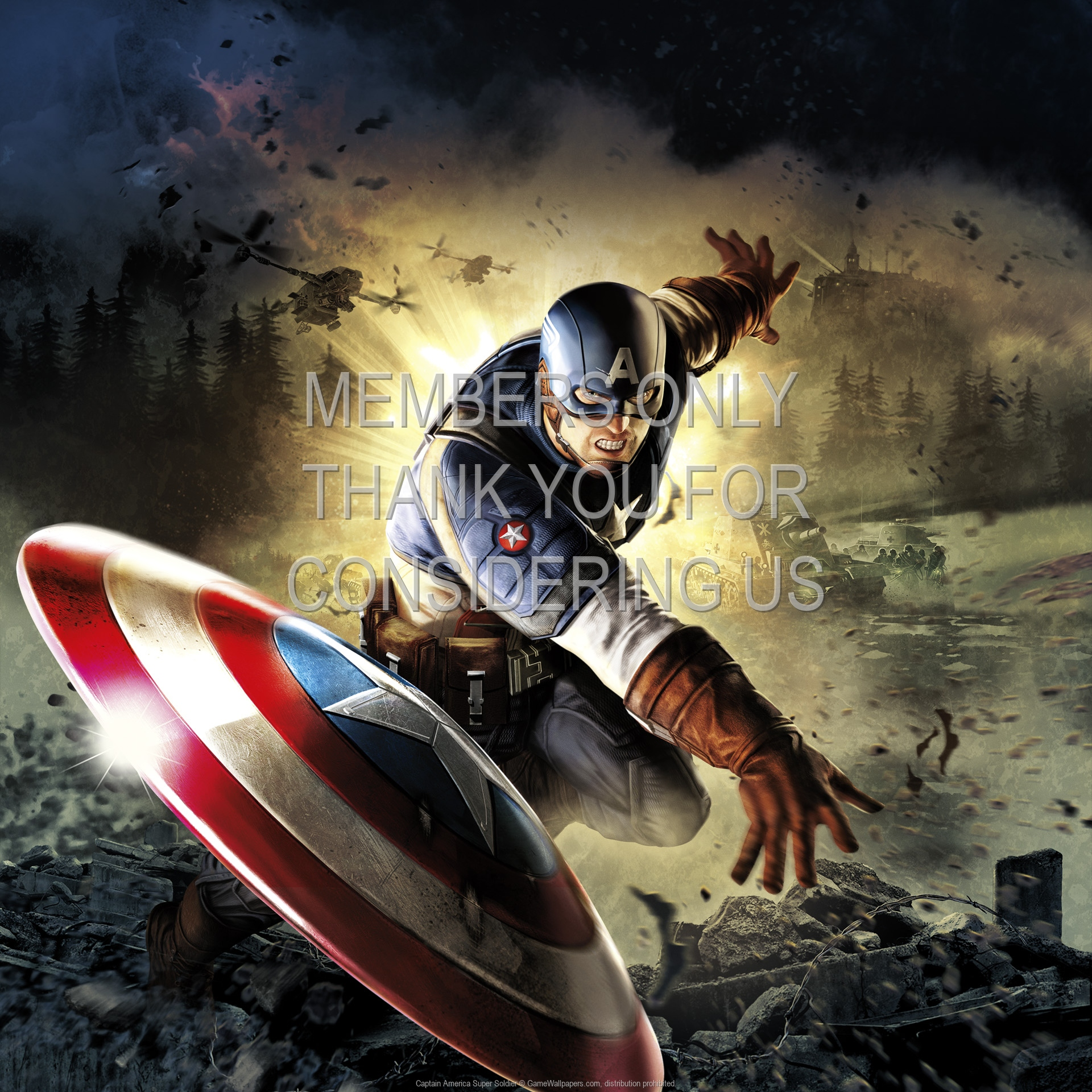 Captain America: Super Soldier 1920x1080 Handy Hintergrundbild 01