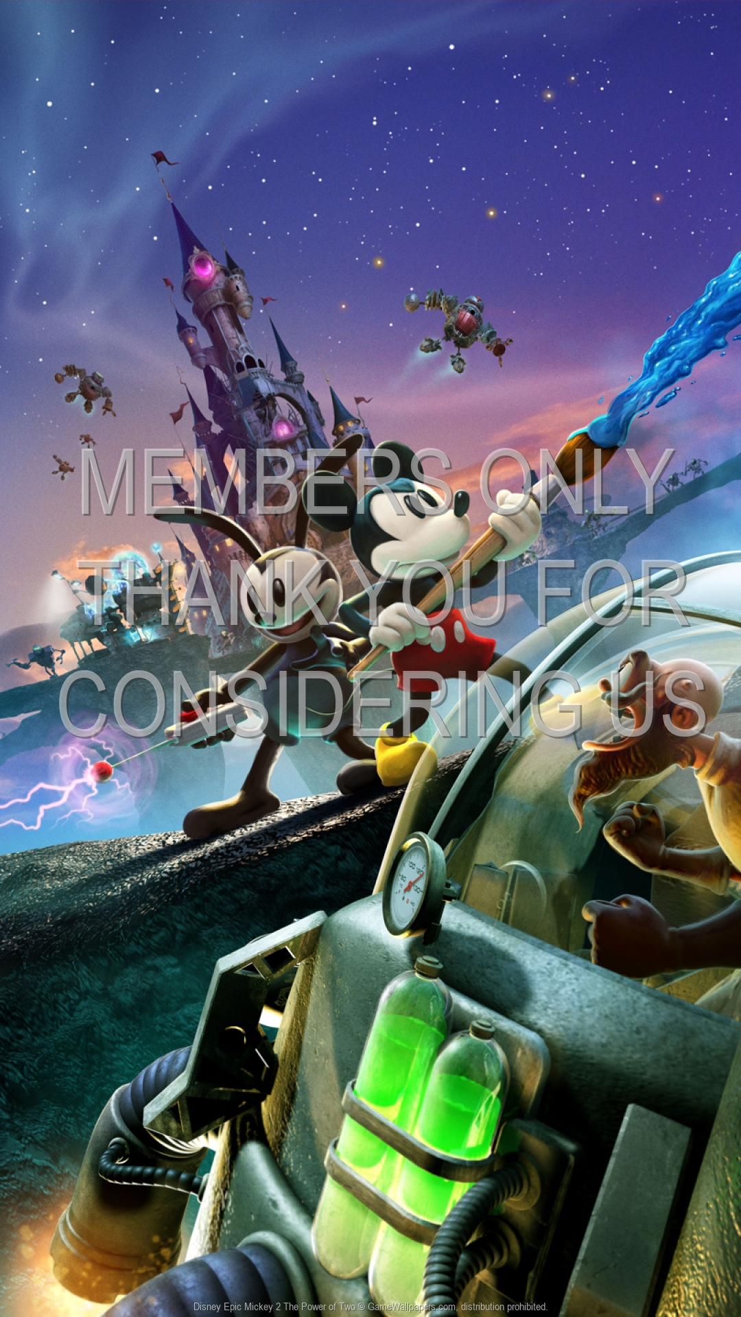 Disney Epic Mickey 2 The Power Of Two 1920x1080 Mobile Wallpaper Or Background 01