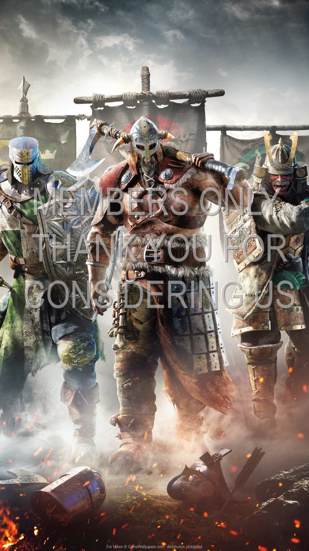 For Honor 1920x1080 Mobiele achtergrond 07