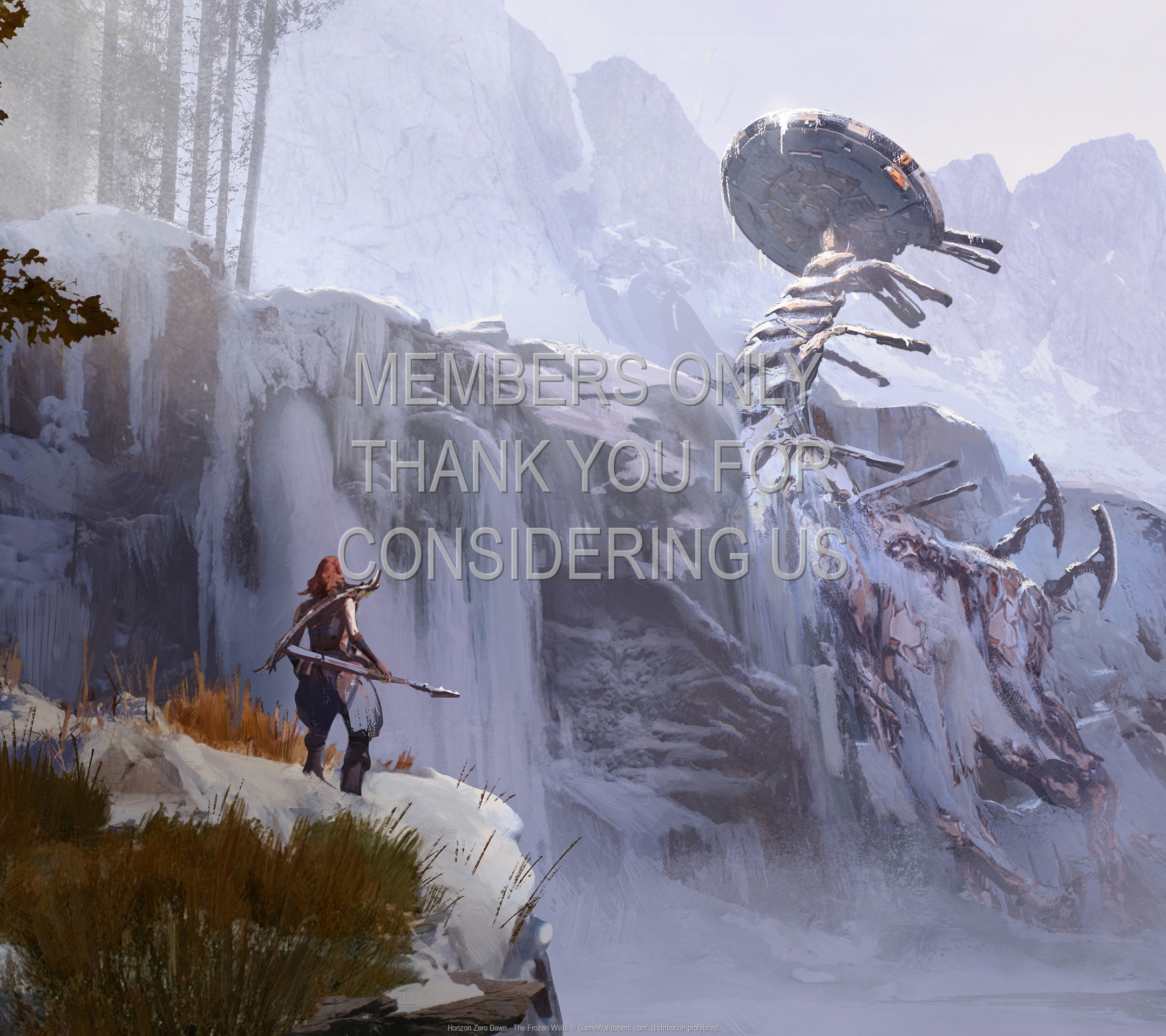 Horizon: Zero Dawn - The Frozen Wilds 1920x1080 Mobile fond d'écran 02