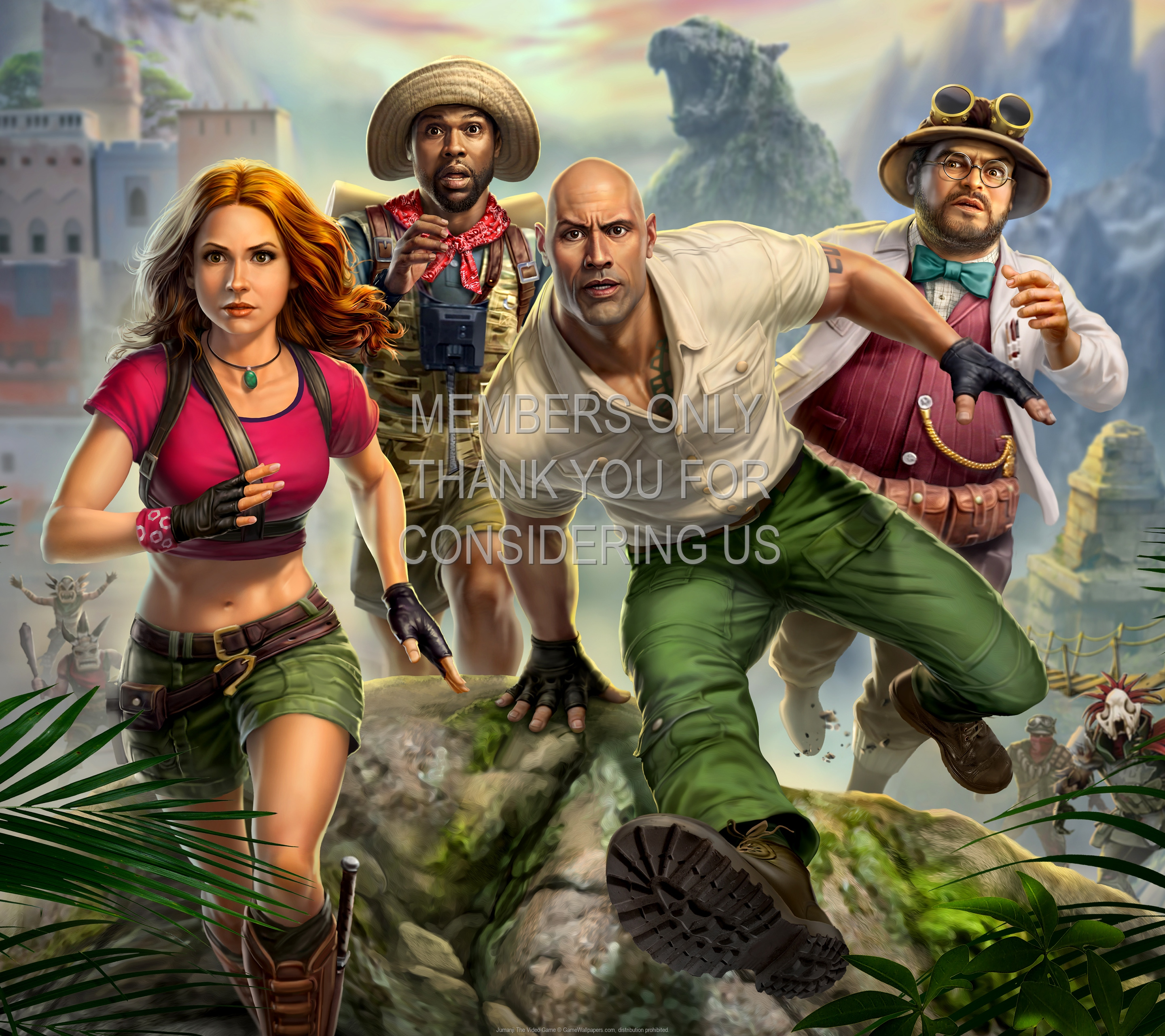 Jumanji: The Video Game 1920x1080 Mobiele achtergrond 01