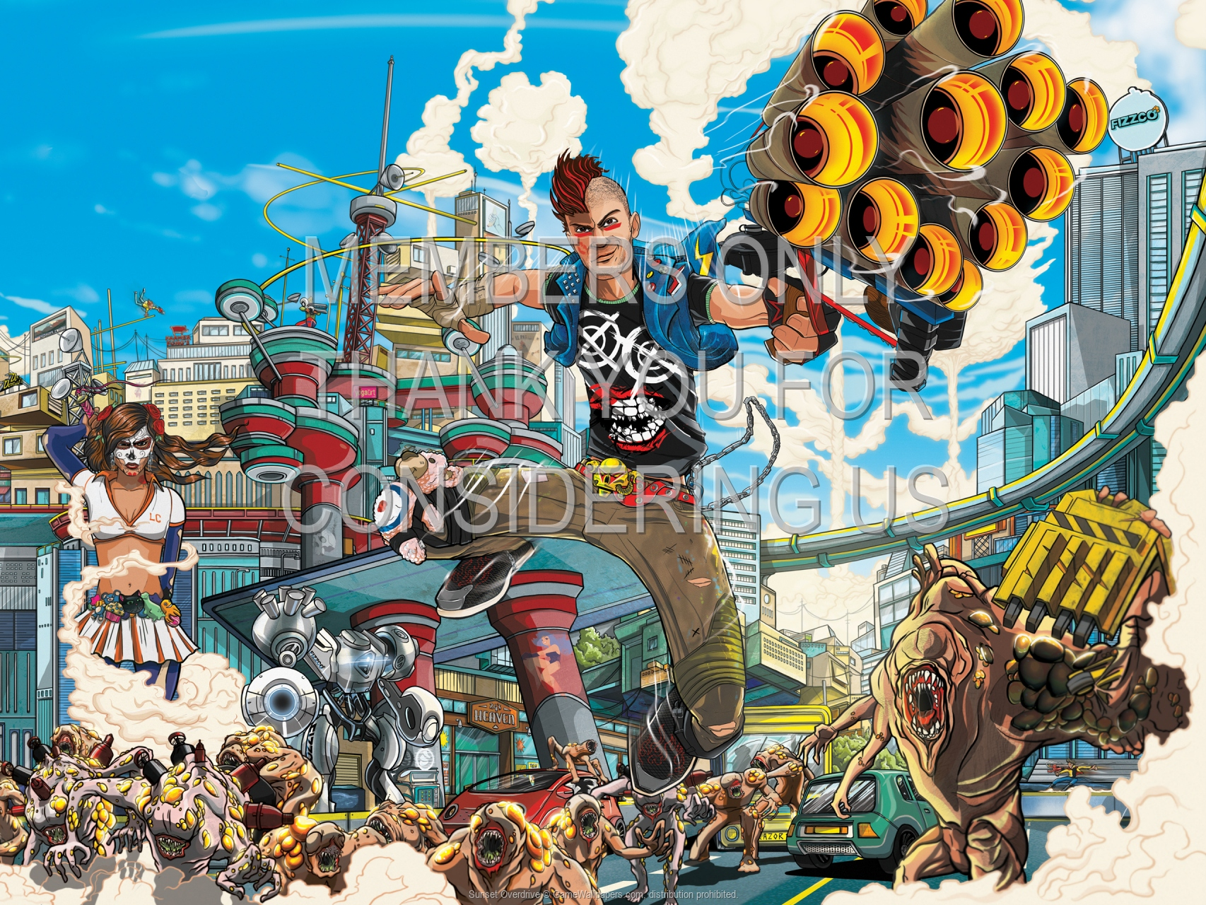 Sunset Overdrive 1920x1080 Mobile wallpaper or background 01