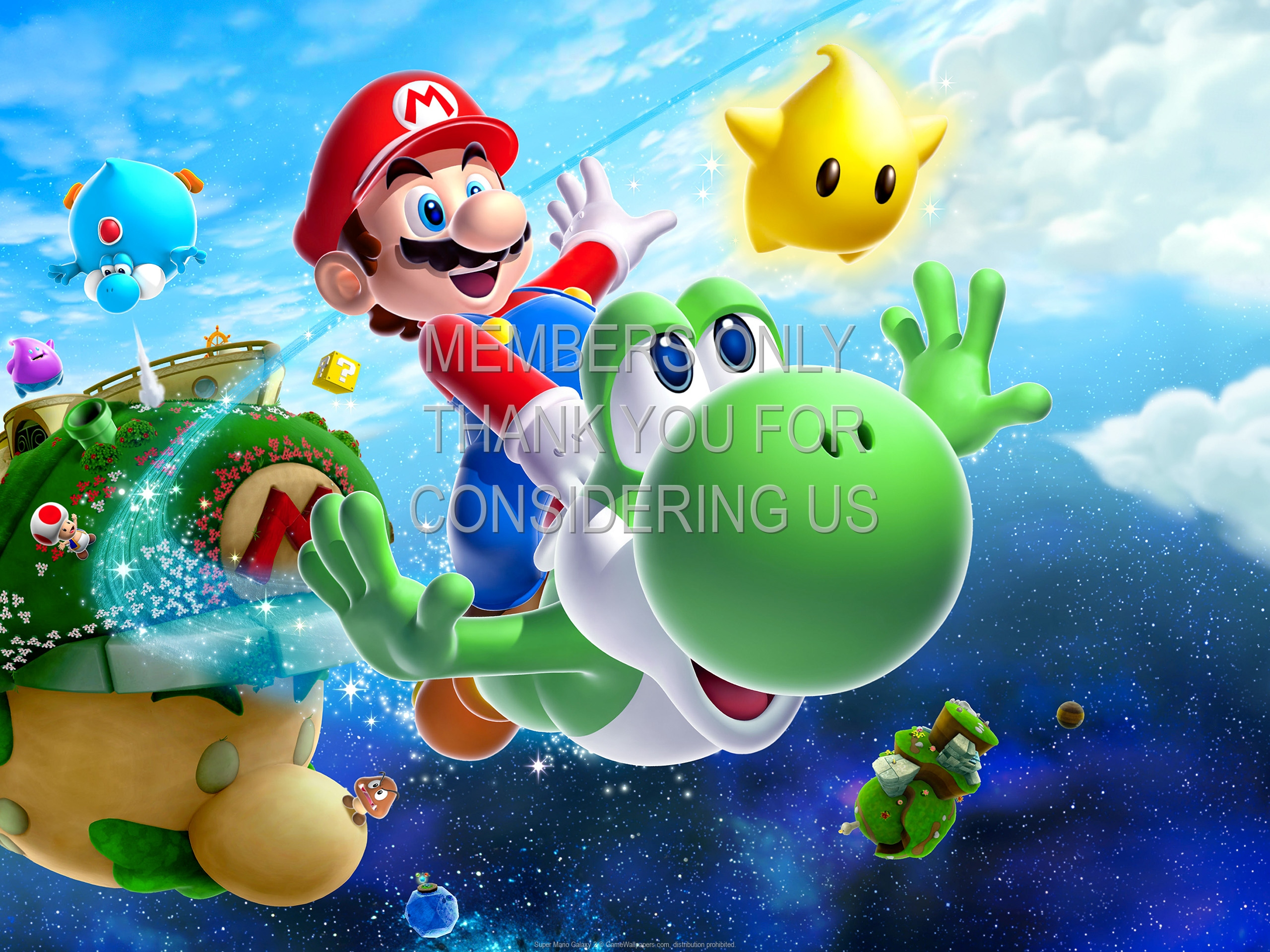 Super Mario Galaxy 2 1920x1080 Mobile wallpaper or background 01