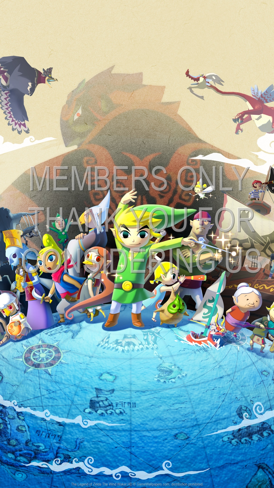The Legend of Zelda: The Wind Waker HD 1920x1080 Mobiele achtergrond 01