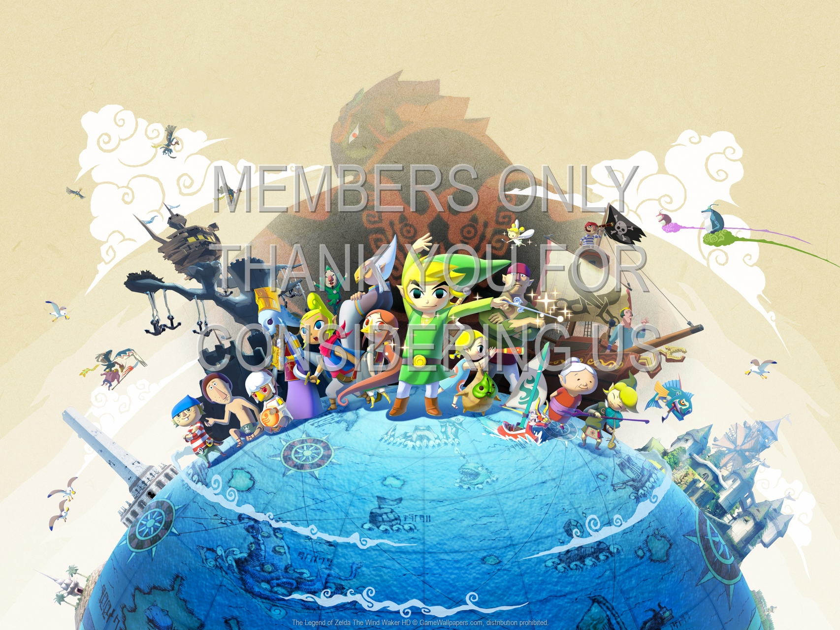 The Legend of Zelda: The Wind Waker HD 1920x1080 Mobiele achtergrond 01