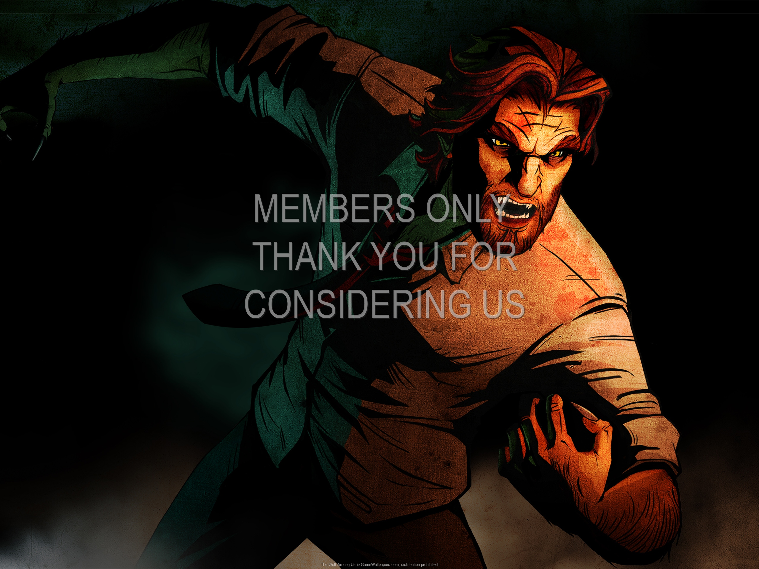 The Wolf Among Us 1920x1080 Mobiele achtergrond 02