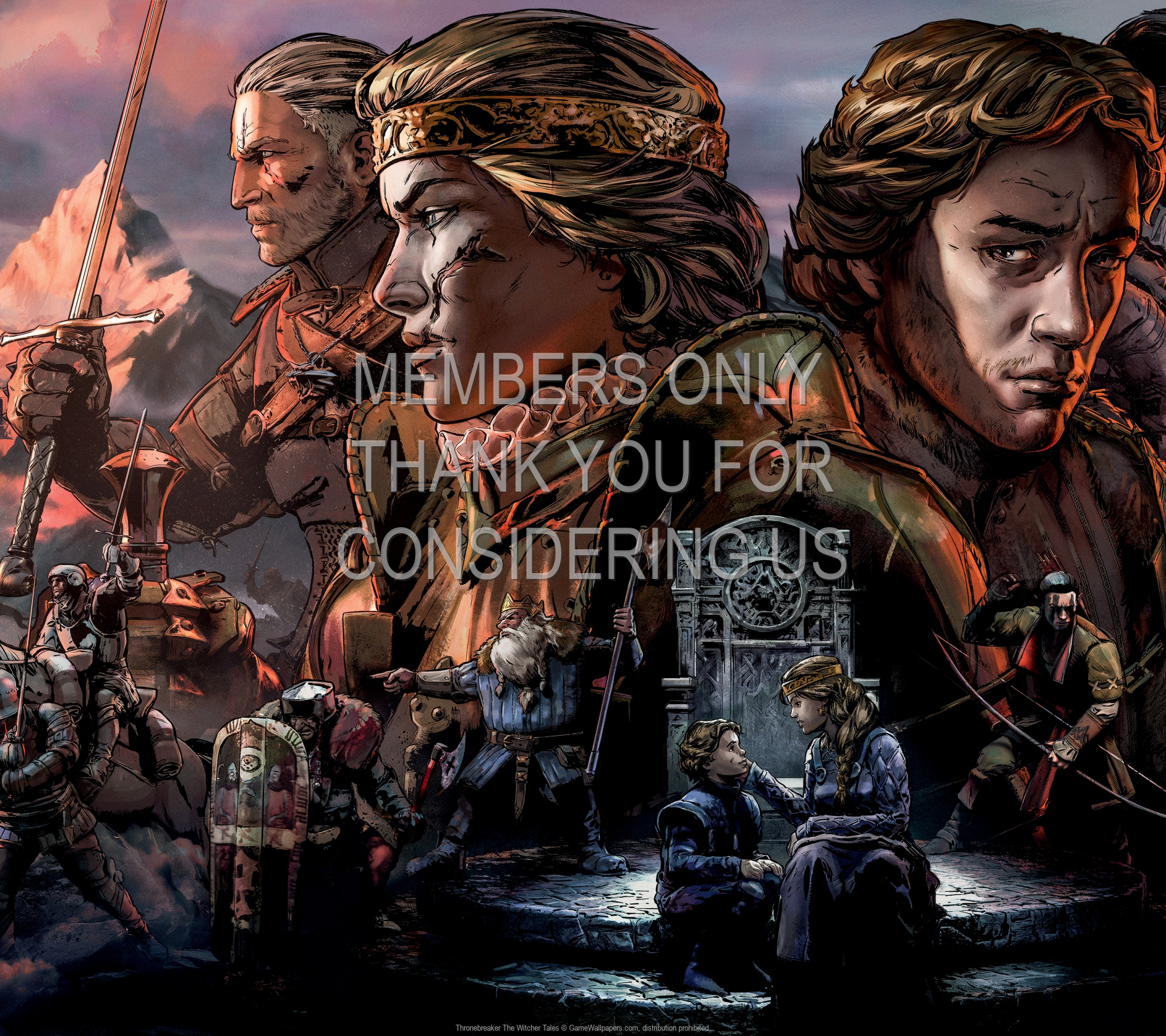 Thronebreaker: The Witcher Tales 1920x1080 Mobiele achtergrond 01