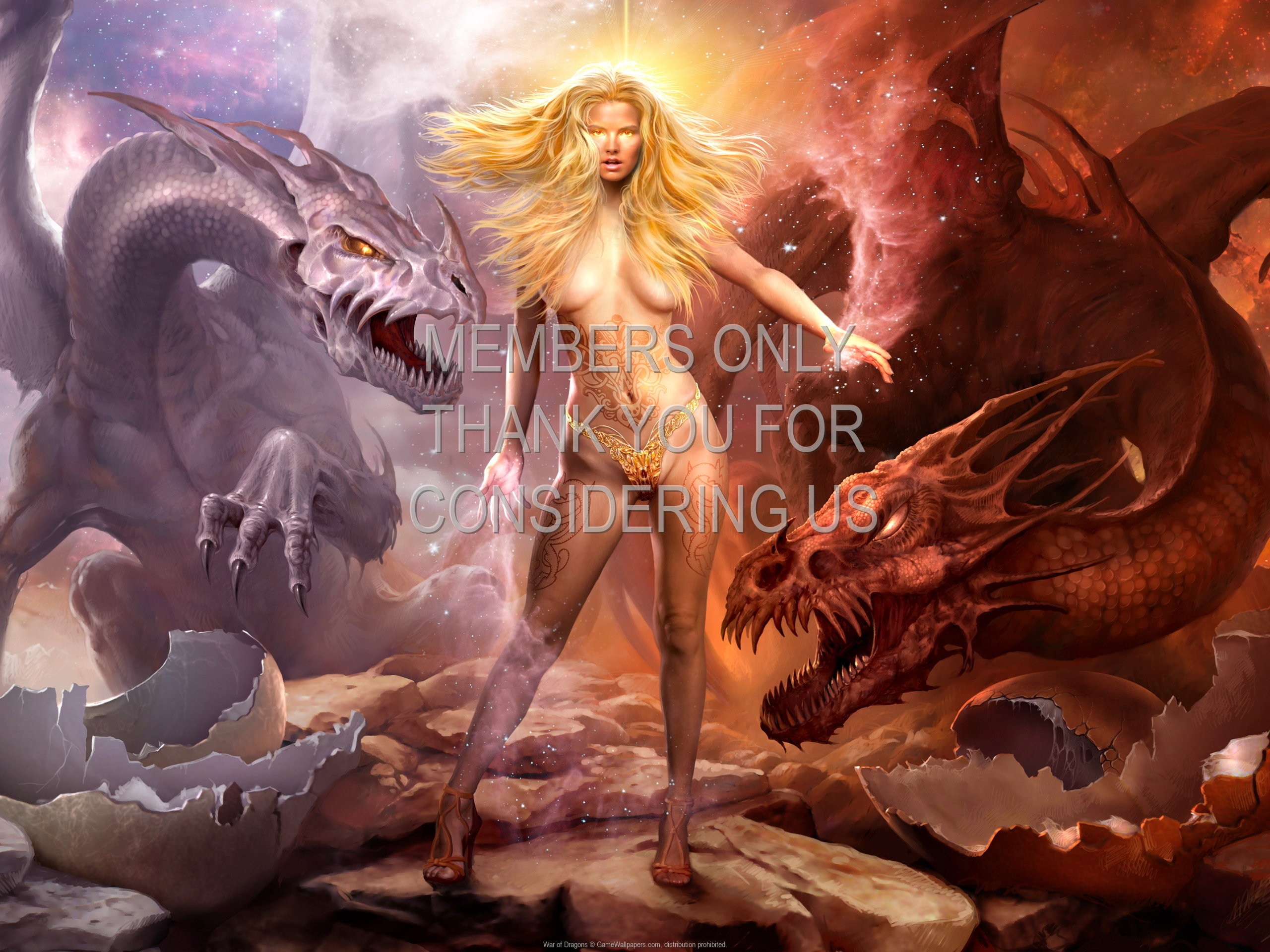 War of Dragons 1920x1080 Mobiele achtergrond 01