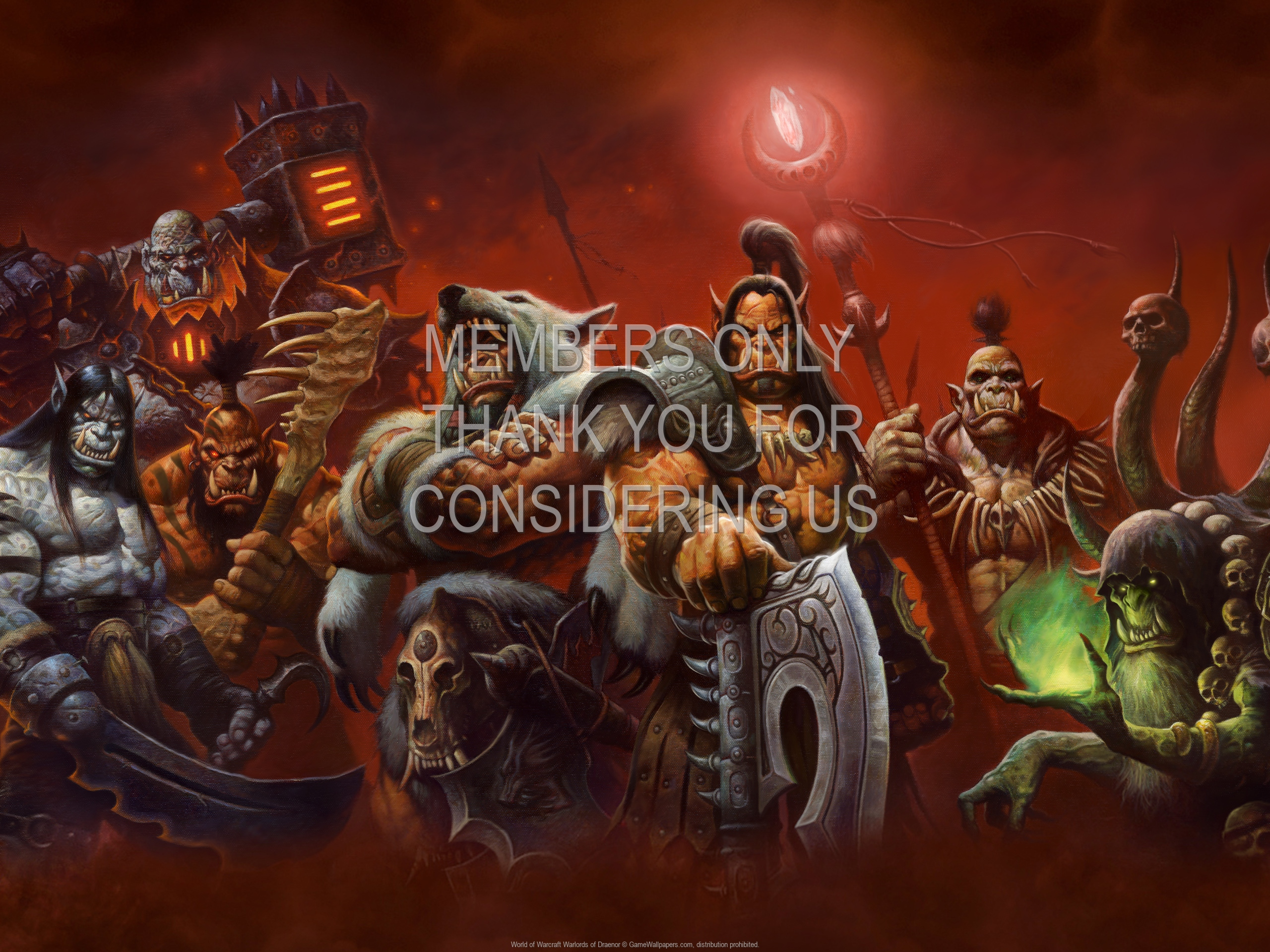 World Of Warcraft Warlords Of Draenor Fondo De Escritorio