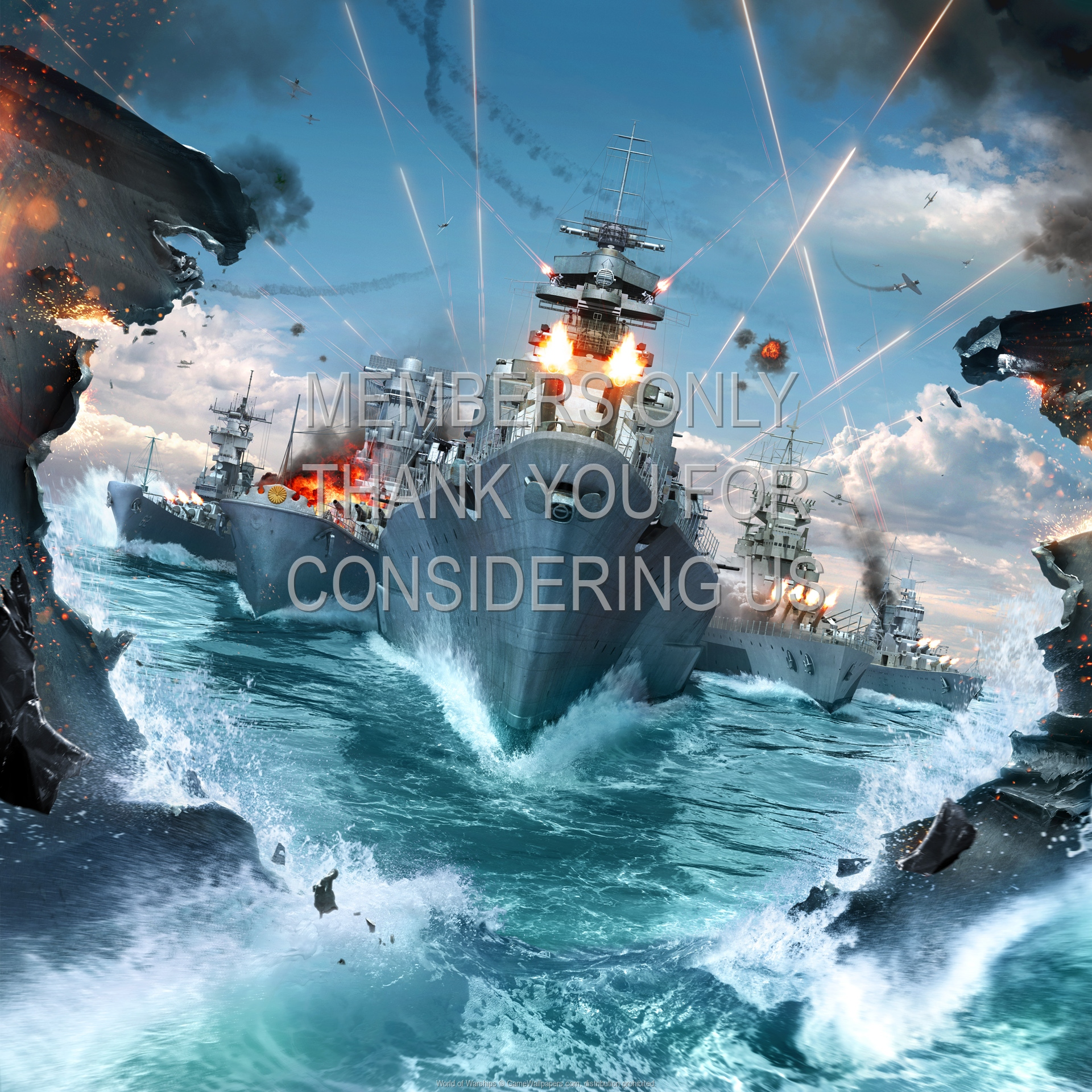 World of Warships 1920x1080 Mobiele achtergrond 01