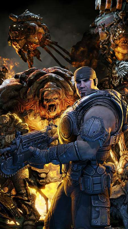 With gears of war