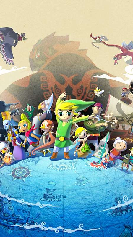 The Legend of Zelda: The Wind Waker HD Mobile Vertical wallpaper or background