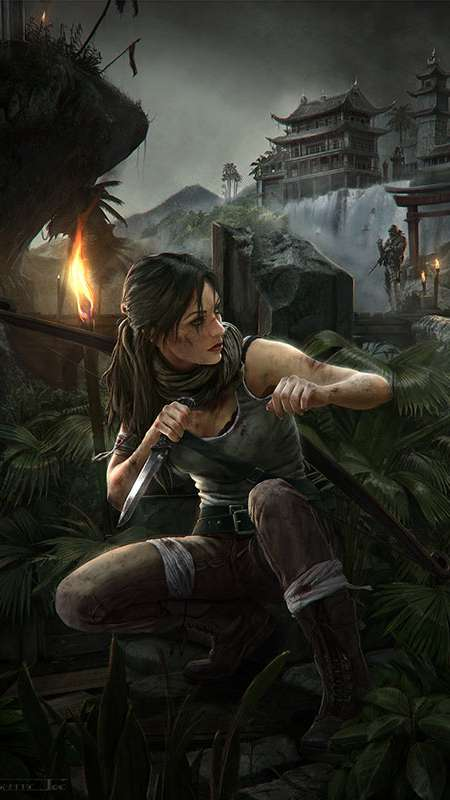 Tomb Raider fan art Mobile Vertical wallpaper or background