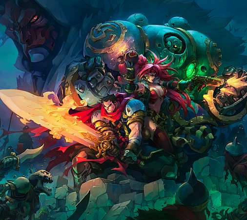 Battle Chasers - Nightwar Mobile Horizontal wallpaper or background