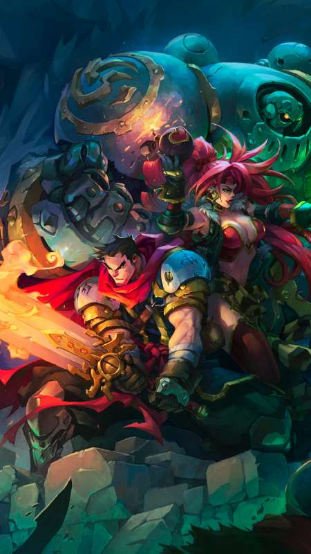 Battle Chasers - Nightwar Mobile Vertical wallpaper or background