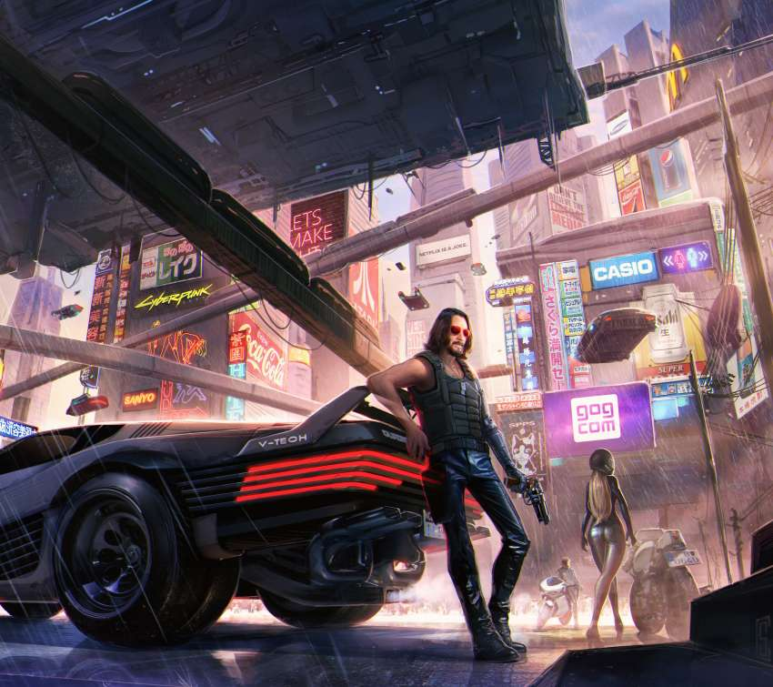 Cyberpunk 2077 fan art Mobile Horizontal wallpaper or background