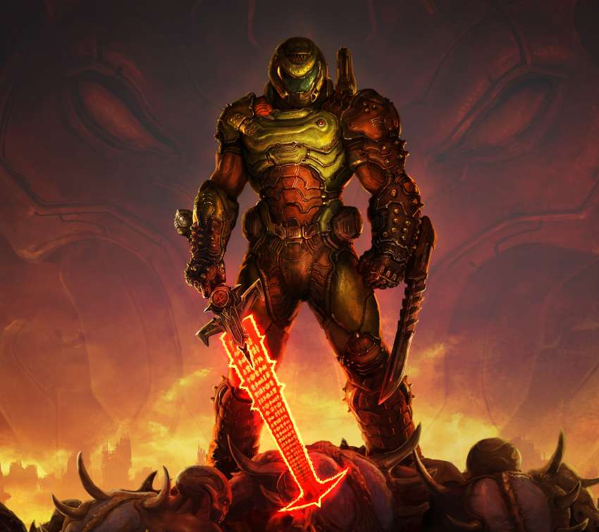 Doom Eternal Mobile Horizontal wallpaper or background