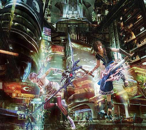Final Fantasy XIII - 2 Mobile Horizontal wallpaper or background