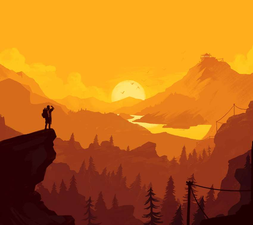 Firewatch Mobile Horizontal wallpaper or background