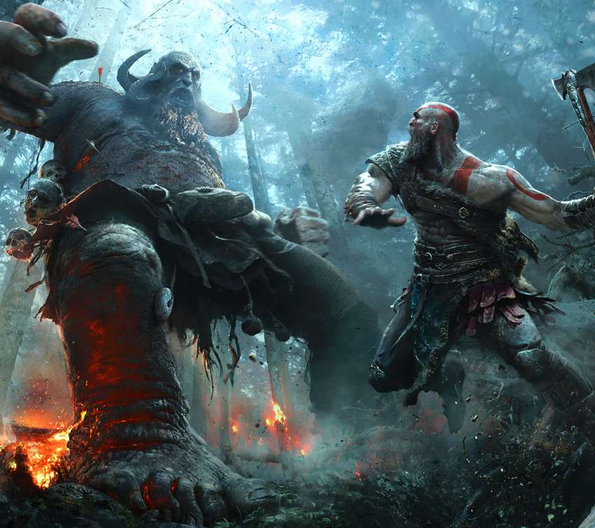 God of War 2017 Mobile Horizontal wallpaper or background