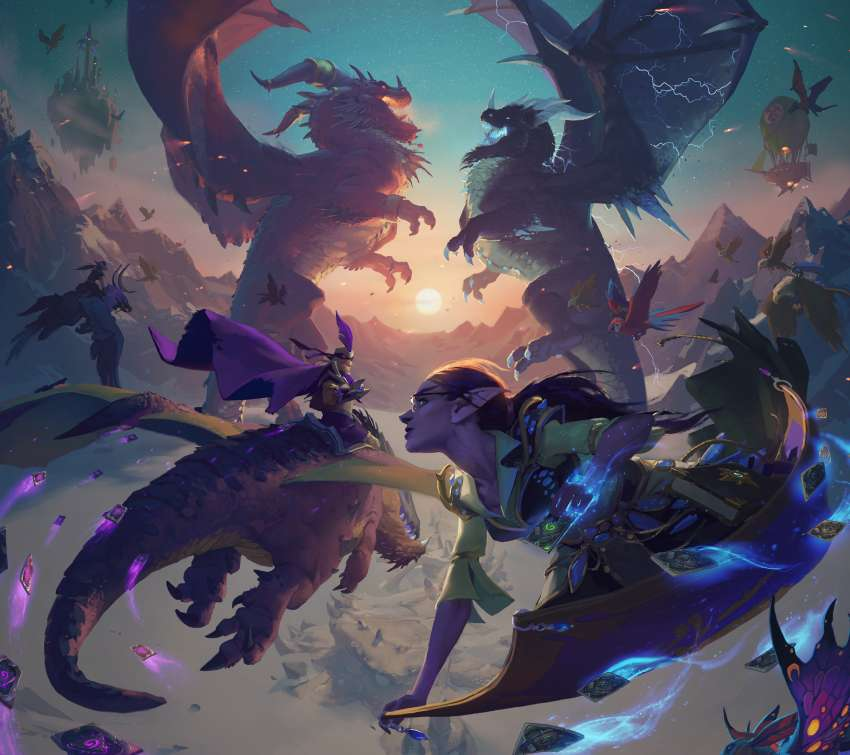 Hearthstone: Descent of Dragons Mobile Horizontal wallpaper or background