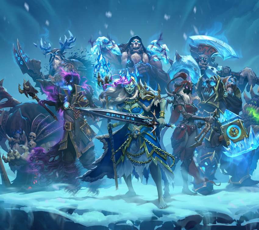 Hearthstone: Heroes of Warcraft - Knights of the Frozen Throne Mobile Horizontal wallpaper or background