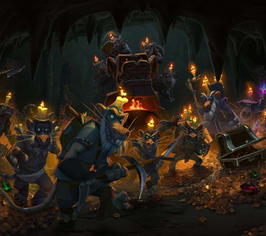 Hearthstone: Heroes of Warcraft - Kobolds & Catacombs Mobile Horizontal wallpaper or background