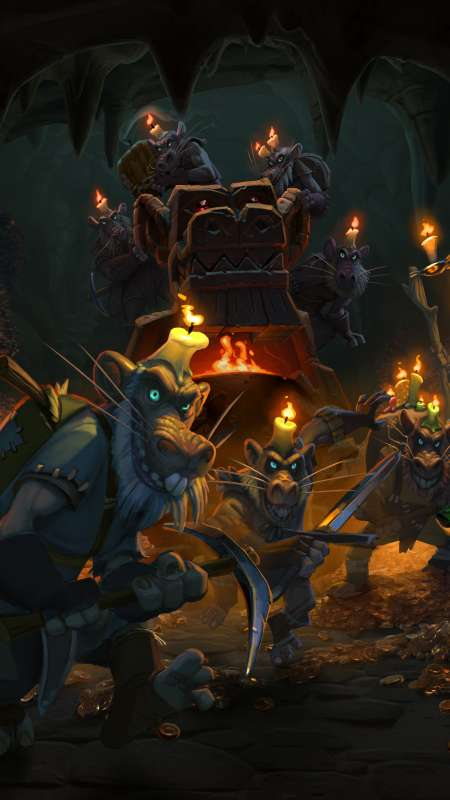 Hearthstone: Heroes of Warcraft - Kobolds & Catacombs Mobile Vertical wallpaper or background