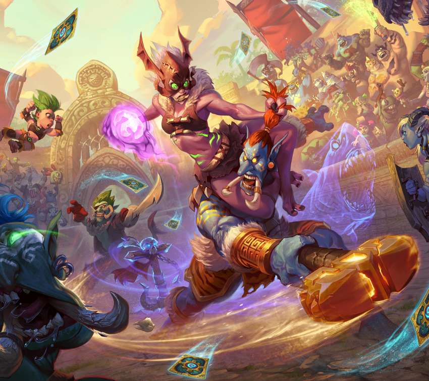 Hearthstone: Rastakhan's Rumble Mobile Horizontal wallpaper or background