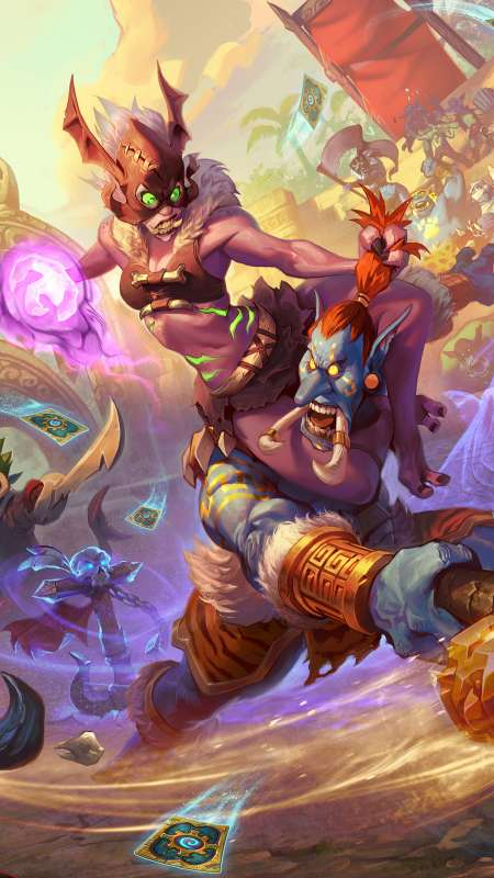Hearthstone: Rastakhan's Rumble Mobile Vertical wallpaper or background