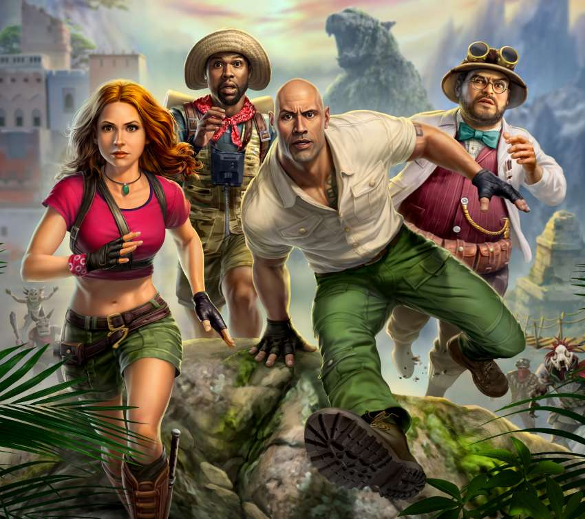 Jumanji: The Video Game Mobile Horizontal wallpaper or background