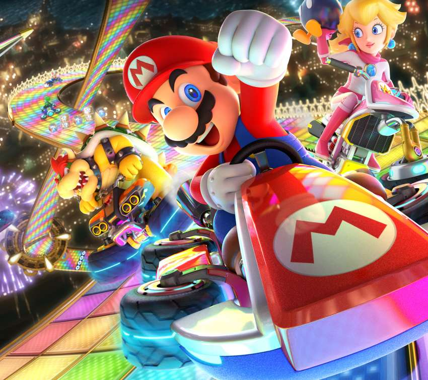 Mario Kart 8 Deluxe Mobile Horizontal wallpaper or background