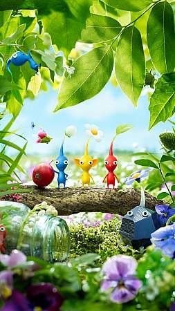 Pikmin 3 Mobile Vertical wallpaper or background