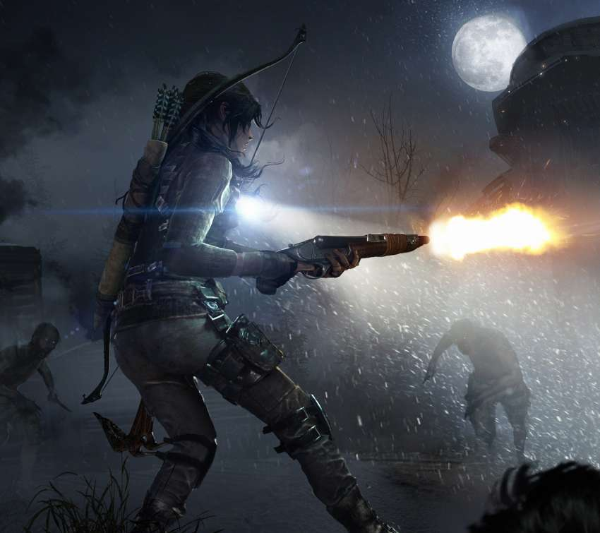 Rise of the Tomb Raider: Cold Darkness Awakened Mobile Horizontal wallpaper or background