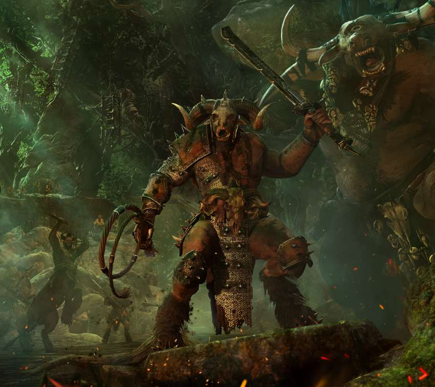 Total War: Warhammer - Call of the Beastmen Mobile Horizontal wallpaper or background