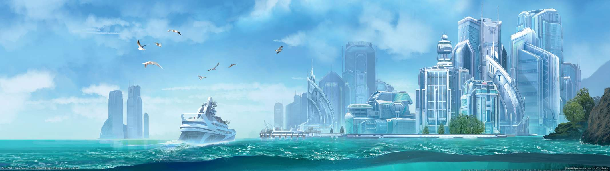 Anno 2070 - Deep Ocean dual screen wallpaper or background