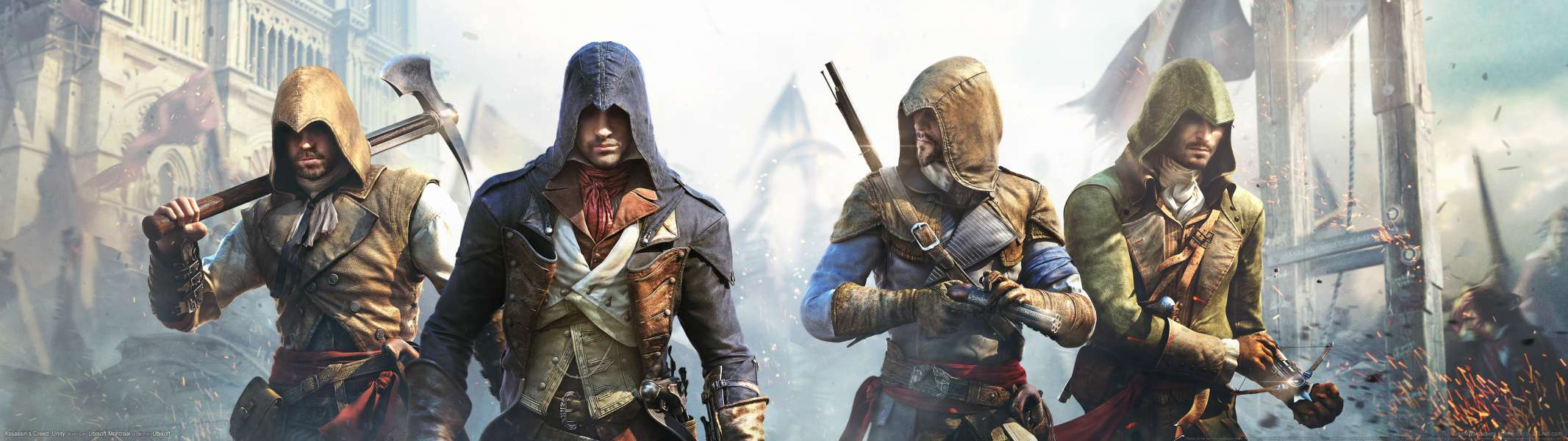 Assassin's Creed: Unity dual screen wallpaper or background
