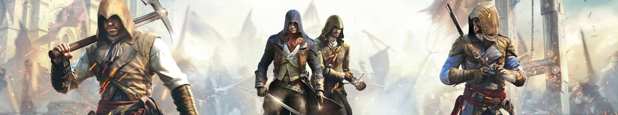 Assassin's Creed: Unity triple screen wallpaper or background