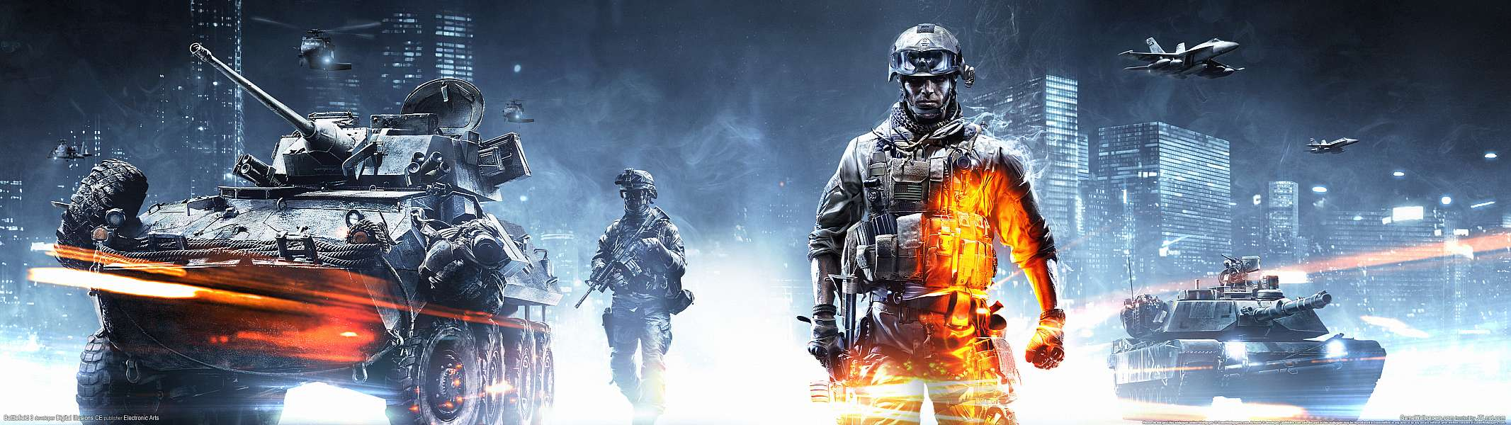 Battlefield 3 dual screen wallpaper or background